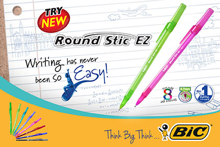 New Study Habits with Bic Roundstic EZ