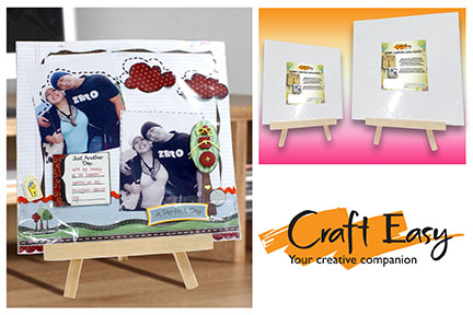 Big Time Creativity with Craft Easy Mini Canvas with Easel